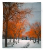 The Colours Of Winter Fleece Blanket