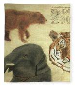 The Columbus, Oh Zoo Fleece Blanket