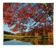The Comfort Of Autumn Fleece Blanket