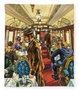 The Comfort Of The Pullman Coach Of A Victorian Passenger Train Fleece Blanket