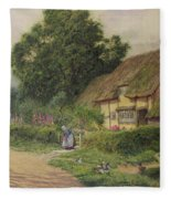 The Coming Of The Haycart  Fleece Blanket