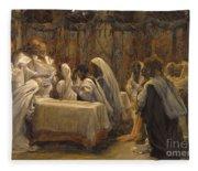 The Communion Of The Apostles Fleece Blanket