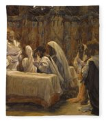 The Communion Of The Apostles Fleece Blanket