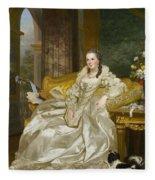 The Comtesse D'egmont Pignatelli In Spanish Costume Fleece Blanket