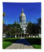 The Connecticut State Capitol Fleece Blanket