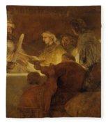 The Conspiracy Of The Batavians Under Claudius Civilis Fleece Blanket
