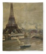 The Construction Of The Eiffel Tower Fleece Blanket