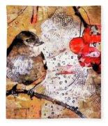 The Content Sparrow Fleece Blanket