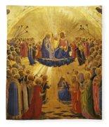 The Coronation Of The Virgin Fleece Blanket