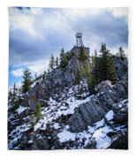 The Cosmic Ray Station Atop Sulphur Mountain, Banff, Canada Fleece Blanket
