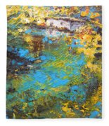 The Cottage By The Lagoon Fleece Blanket