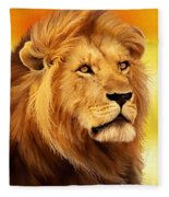 The Courageous Cecil - African Lion Fleece Blanket