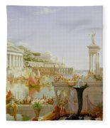 The Course Of Empire - The Consummation Of The Empire Fleece Blanket
