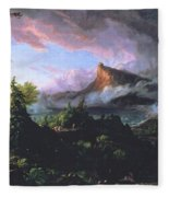 The Course Of Empire - The Savage State Fleece Blanket