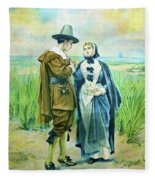 The Courtship Of Miles Standish Fleece Blanket