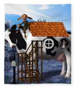 The Cow House Fleece Blanket
