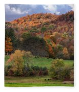 The Cows Are In The Dell  Fleece Blanket
