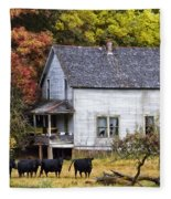 The Cows Came Home Fleece Blanket