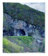 The Craggy Pinnacle Tunnel On The Blue Ridge Parkway In North Ca Fleece Blanket