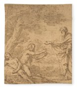 The Creation Of Eve  Fleece Blanket