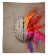 The Creative Brain Fleece Blanket
