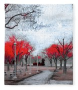 The Crimson Trees Fleece Blanket