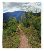 The Crooked Path Fleece Blanket