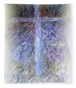 The Cross Fleece Blanket