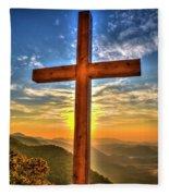 The Cross The Choice Pretty Place Chapel Greenville South Carolina Art Fleece Blanket