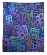 The Crowded City Fleece Blanket
