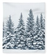 The Crown Of Winter Fleece Blanket