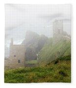 The Crowns In Fog Fleece Blanket
