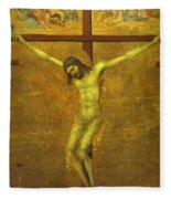 The Crucifixion 1311 Fleece Blanket