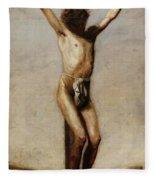 The Crucifixion 1880 Fleece Blanket