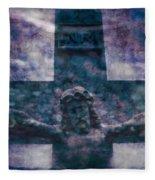 the Crucifixion of Jesus Fleece Blanket