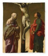 The Crucifixion With The Virgin And Saint John Fleece Blanket
