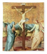 The Crucifixion With The Virgin And St John The Evangelist Fleece Blanket