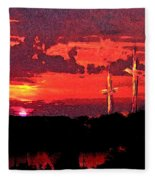 The Crucifixtion Fleece Blanket