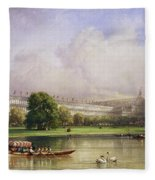 The Crystal Palace Seen From The Serpentine Fleece Blanket