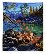 The Crystal Waters Of Lake Tahoe Fleece Blanket