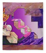 The Cubist Scream Fleece Blanket