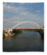 The Cumberland River In Nashville Fleece Blanket