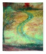 The Curve In The Road Fleece Blanket