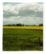 The Curve Of A Mustard Crop Fleece Blanket