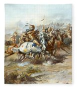 The Custer Fight Fleece Blanket