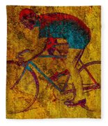 The Cyclist Fleece Blanket