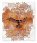 The Da Vinci Flying Machine Fleece Blanket