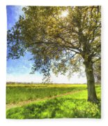 The Daffodil Summer Farm Art Fleece Blanket