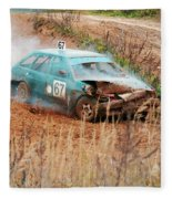 The Damaged Car In A Smoke Fleece Blanket