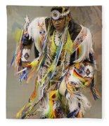 Pow Wow The Dance 4 Fleece Blanket